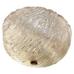 Iridescent Toni Zuccheri for Venini Flushmount, Two Available