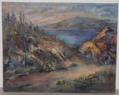 "Irina Roublon ""Luminous Mountain Landscape"" Oil Painting C.1960s"