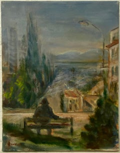 """Irina Roudakoff Belotelkin """"View From Pacific Heights"""" Original Painting C.1960"""