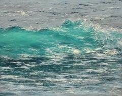 Blue Ryas original seascape painting Contemporary realism Art 21st