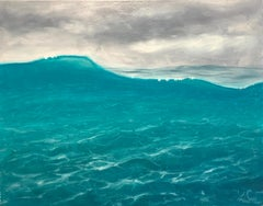 Breaking the Surface VI - Original seascape painting Contemporary realism