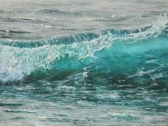 Bright Blue original realism -seascape oil painting- Contemporary Art