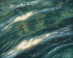Clear Water I original seascape painting Contemporary realism Art 21st