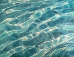 Clear Water Study VI - Original seascape painting Contemporary realism Art 21st