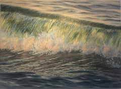 Crashing Light - realism seascape oil painting- Contemporary Art