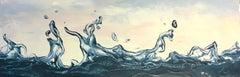 Dancing Water 21 - original hyperrealism seascape painting ocean modernist