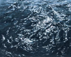 Deep Waters - Original seascape painting Contemporary realism Art 21st