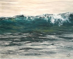 Early Morning original seascape painting Contemporary realism Art 21st