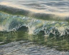 Golden Hour original realism ocean painting Contemporary Art 21st Century