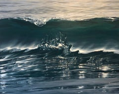 Molten Silver - original realism ocean painting contemporary art 21st Century