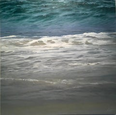 Sandy Water - original seascape ocean oil painting Contemporary realism Art