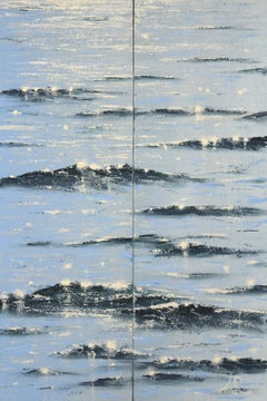 Sea Diamonds 19 diptych original seascape painting