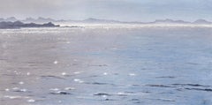 Sea Diamonds - Original seascape painting Contemporary realism Art 21st