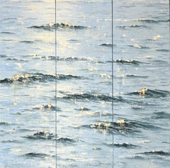 Sea Diamonds 20 triptych original seascape painting