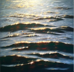 Shimmers - realism seascape oil painting- Contemporary Art