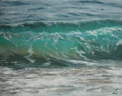 So Clear original seascape painting Contemporary realism Art 21st