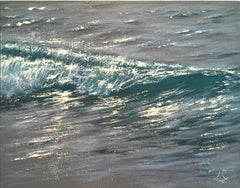 Sparkles Study - realism seascape oil painting Contemporary Art 21st century