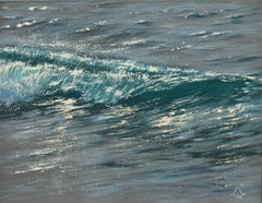 Sparkles Study - realism seascape oil painting- Contemporary Art
