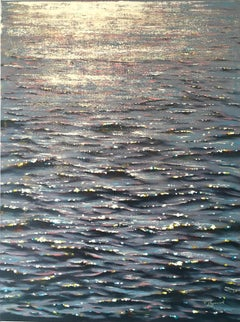 Stardust - original realism seascape oil painting- Contemporary Art-21st century