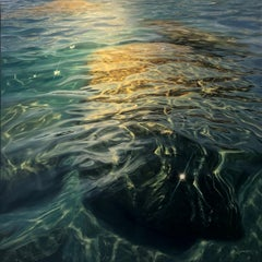 Submerged - original realism -seascape oil painting- Contemporary Art
