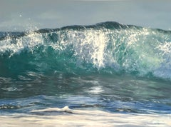Sunrise-original realism -seascape ocean oil painting- Contemporary Art