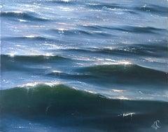 Sunrise Study I - Original seascape painting Contemporary realism Art 21st
