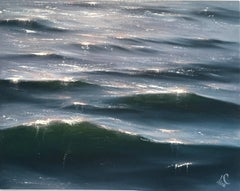 Sunrise Study I - Original seascape painting Contemporary realism Art 21st