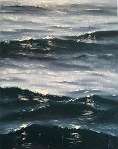 Sunrise Study II-Original seascape painting Contemporary realism Art 21st C