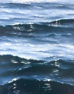 Sunrise Study II - Original seascape painting Contemporary realism Art 21st