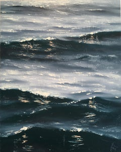 Sunrise Study II - seascape water painting Contemporary realism Art 21st Century