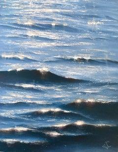 Sunrise Study III - Original seascape painting Contemporary realism Art 21st