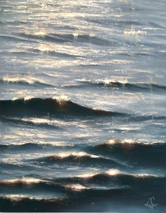 Sunrise Study III - Original seascape painting Contemporary realism Art 21st