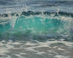 Turquois Light original seascape painting Contemporary realism Art 21st