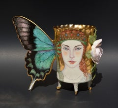 """Fly Away, Summer"", Contemporary Mixed Media Sculpture with Painted Illustration"