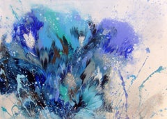 BLUE COMPOSITION, Painting, Acrylic on Canvas
