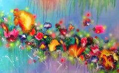 FAIRY FLOWERS, Painting, Acrylic on Canvas