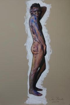 Der Mann, Homage to Egon Schiele, nude