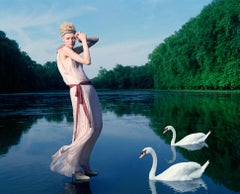 Girl with swans for Greek Vogue