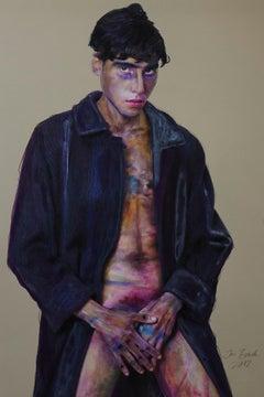 MANN MIT MANTEL; Homage to Egon Schiele
