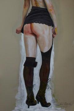 Schuhe, Strümpfe, Rock, Homage to Egon Schiele, nude