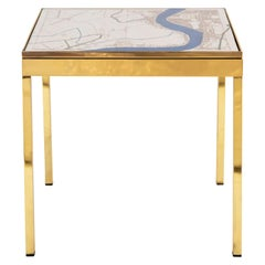 Iris London I Brass Bedside Table by Allegra Hicks