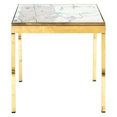 Iris London II Brass Bedside Table by Allegra Hicks