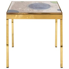 Iris London IV Brass Bedside Table by Allegra Hicks