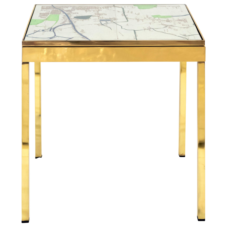 Iris London V Brass Bedside Table by Allegra Hicks