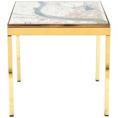 Iris London VI Brass Bedside Table by Allegra Hicks
