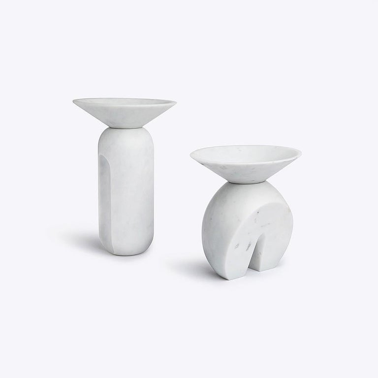 Iris, marble contemporary vase, Valentina Cameranesi