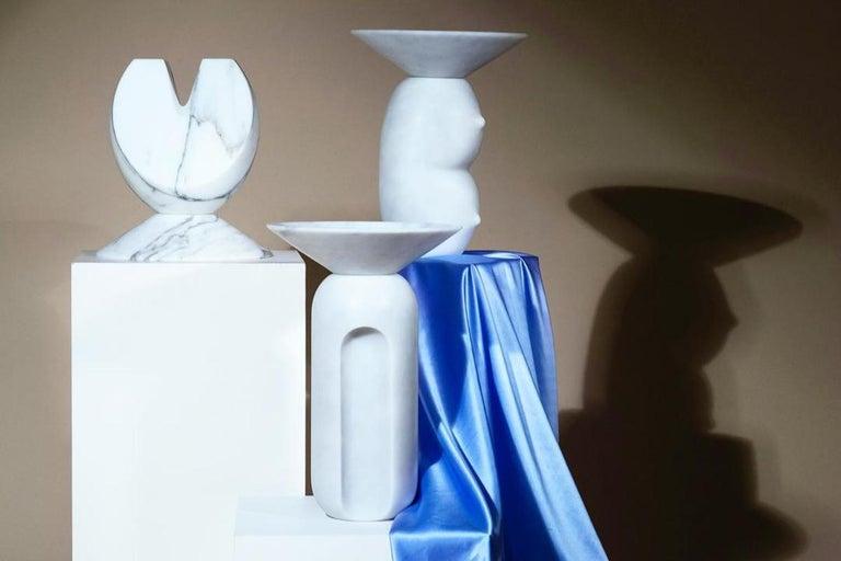 Italian Iris, Marble Contemporary Vase, Valentina Cameranesi