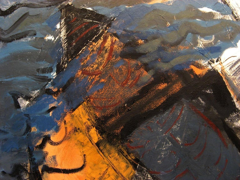 Meteor Shower - Contemporary Painting by Iris Osterman
