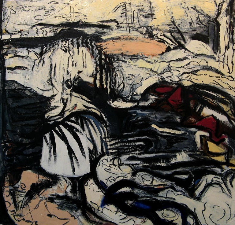 Iris Osterman Landscape Painting - Red Rocks