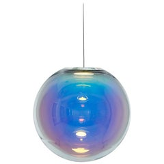 Iris Pendant Light in Crystal Glass and Aluminum